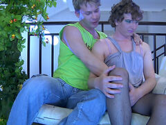 Ernie&Silvester sissy gay on video